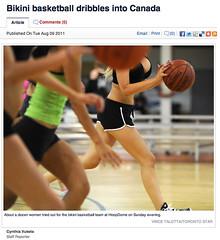 Bikini basketball dribbles into Canada - TorStar