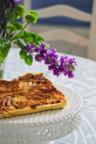 Tarte aux poires, amandes et caramel façon Masterchef UK / UK Masterchef Way Pear, Almond and Butterscotch Tart