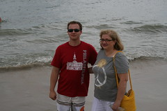 Sean and his mom Dianne on the beach