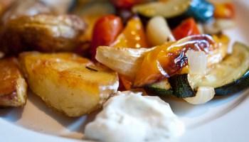 Roasted vegetables, potatoes an aïoli