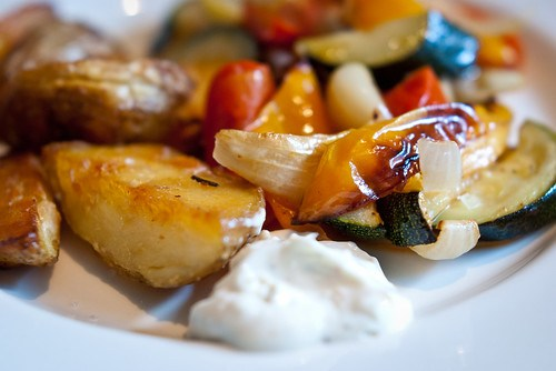 Roasted vegetables, potatoes an aïoli