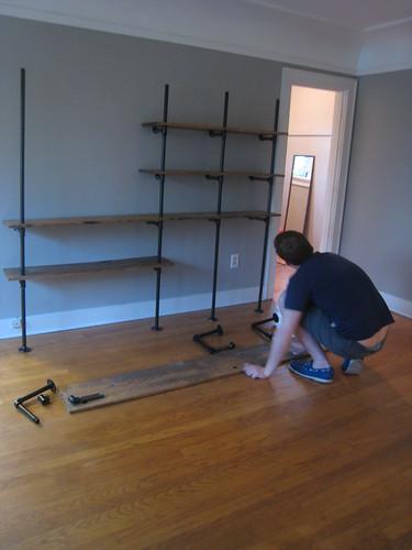 building the shelving unit
