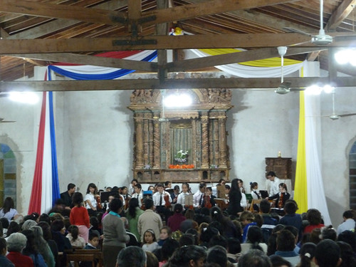 youth orchestra in the church