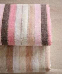 striped linen pink fabric Avenue 55 etsy