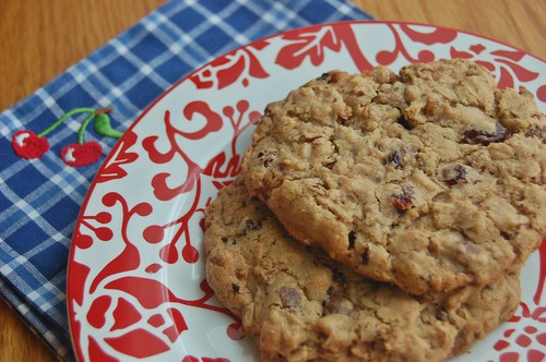 cherry pecan oatmeal chocolate chip cookies