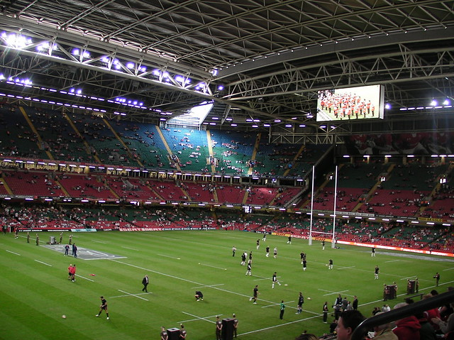 Wales v England RWC Warmup game-Prematch training