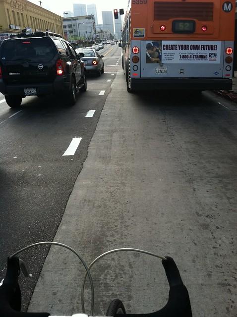 7th St bike lane 52 bus