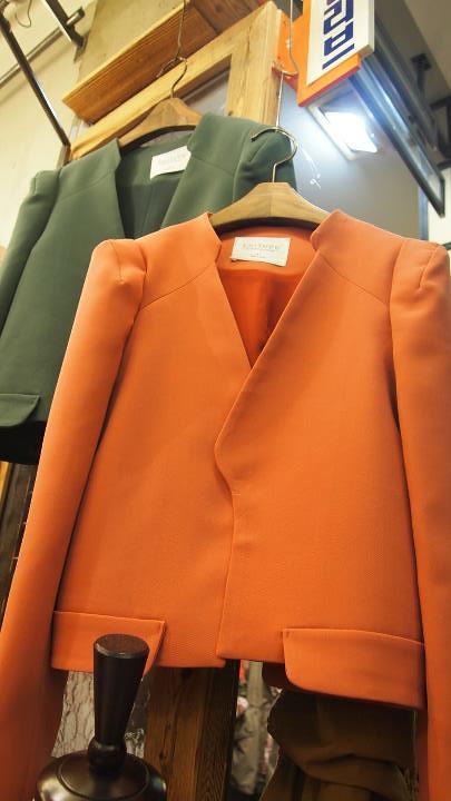韓-短版氣質款西裝外套(橘粉色)- 售價1480