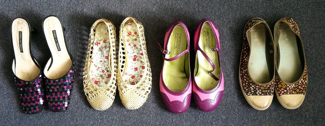 shoes in pairs