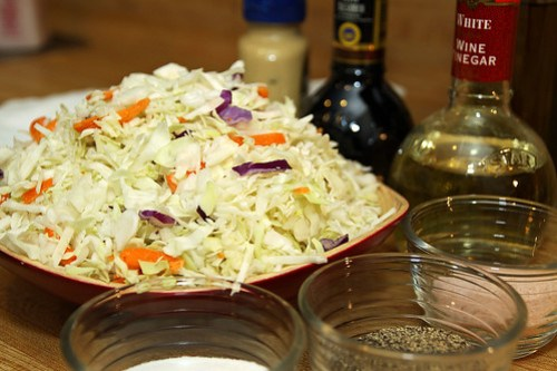 cabbage and ingredients