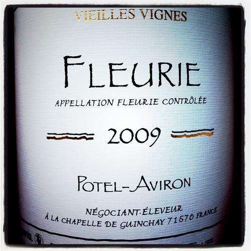 Potel-Aviron Fleurie 2009, Beaujolais, France