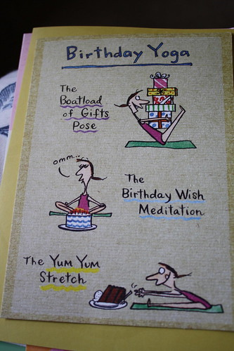 Birthday Yoga card