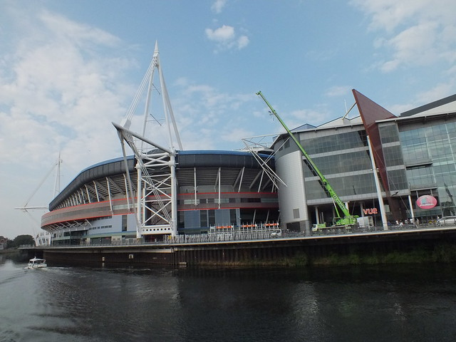 Film shoot by Millennium Stadium