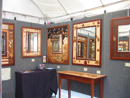 Beautiful inlaid wood mirrors