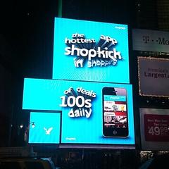 Shopkick ad in times square