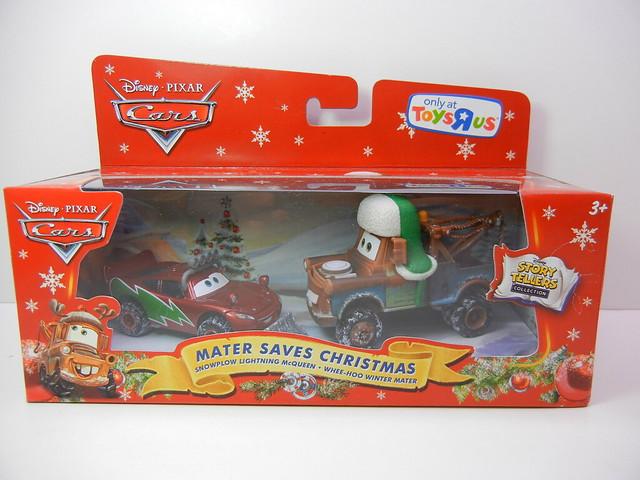 2011 disney cars toys r us mater saves christmas 2 pack