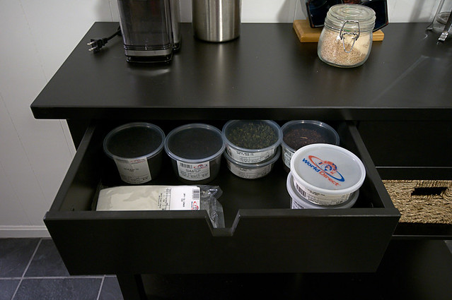 coffee/tea bar drawer