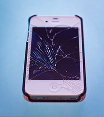 Cracked iPhone 4s Screen