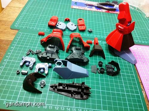 MG Rick Dias Quattro Custom RED Review OOB Build (37)
