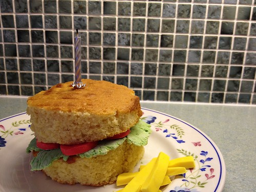 (Yesterday's) Daily Snap 211: Burger Cake