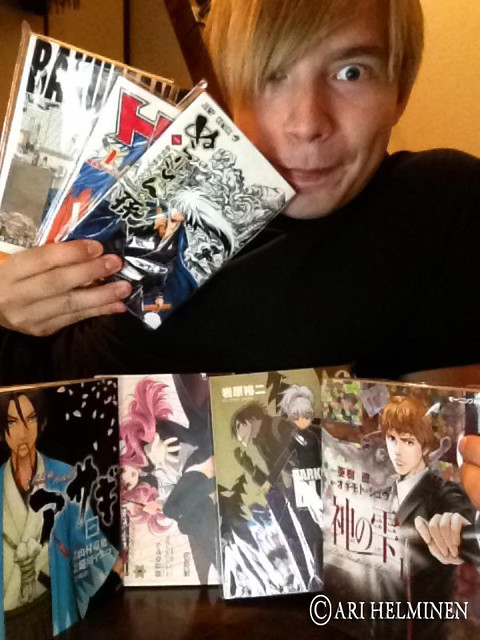 Ari Helminen (me) with his new manga!