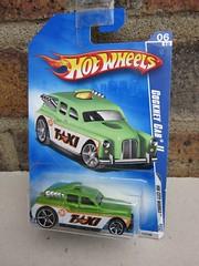 Hot Wheels Green Cockney Cab II  London Taxi