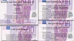 2001 presentation re benefits and potential weakness of Euro