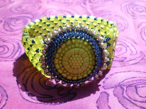 Prickly Pear Herringbone Stitch Cuff