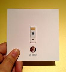 the OS X Lion install key