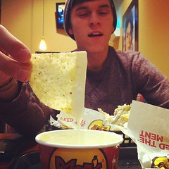 Queso for 2 @ Moe's! Thanks @Moes_HQ for sponsoring us to #relevant11