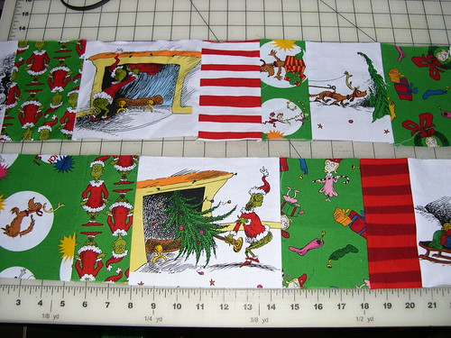 Step 5: Using that big print (non-panel) to piece into the border