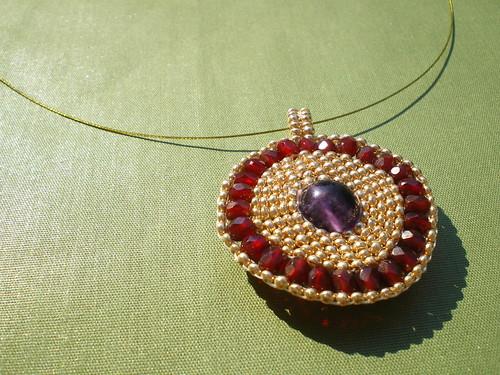 Boadicea's Shield Brick Stitch Pendant