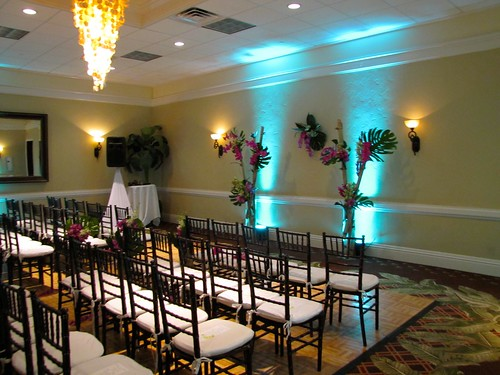 Indoor Ceremony Setup at Cheeca Lodge