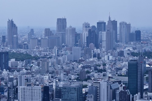 Buildings in Shinjuku by hidesax