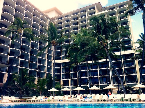 The Orchid Pool at the Halekulani Hotel by bloompy