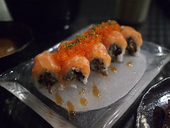 Salmon skin rolls, Raku Japanese Restaurant & Bar, Greenwood Avenue