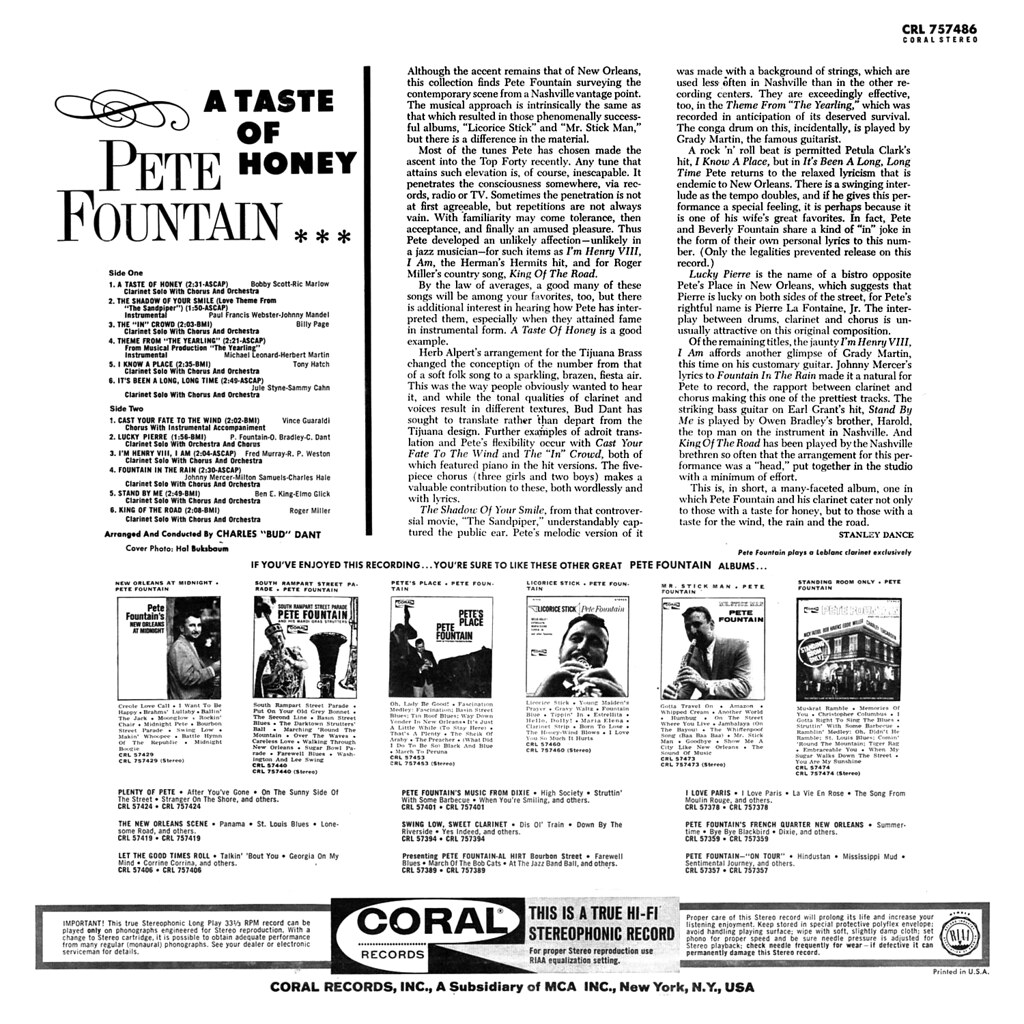 Pete Fountain - A Taste of Honey