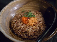 Garlic fried rice, Raku Japanese Restaurant & Bar, Greenwood Avenue