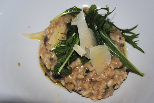 Mushroom risotto with fresh rocket and parmesan shavings