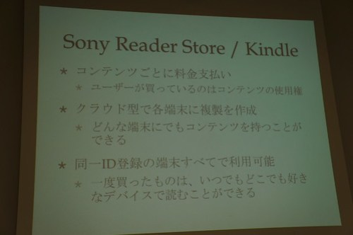 Sony Reader Store/Kindle