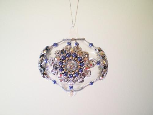 Lapis Mandala Beaded Christmas Ornament