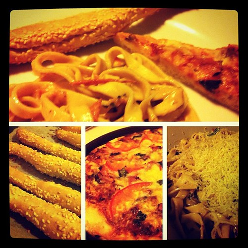 Fresh Italian Feast: Pasta, Pizza, & Grissini --- all made from scratch!