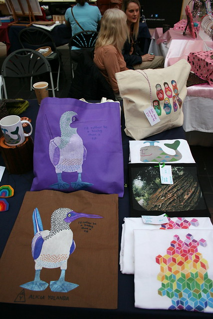 New handpainted & drawn booby bags