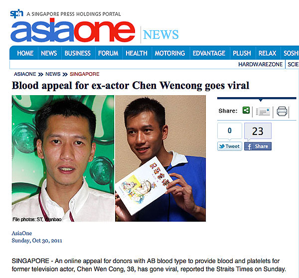 Blood Donation Appeal went Viral