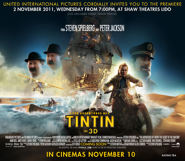 The Adventure of Tintin movie invite