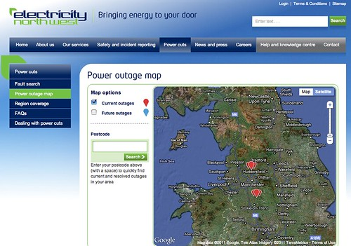 Electricity nortwest power outage map