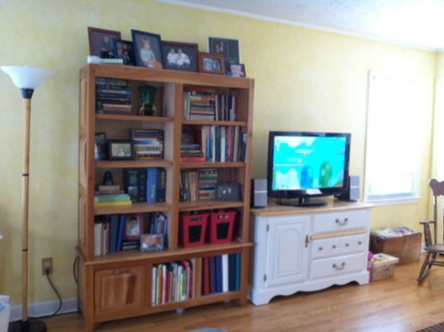 bookcase/TV after