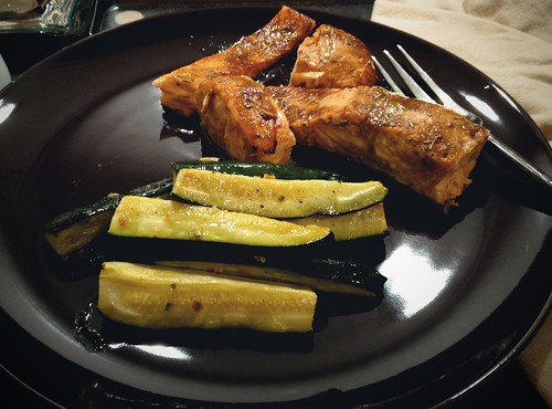 courgettes and salmon