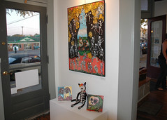 Artwork in Day of the Dead show at Starkweather Arts Center