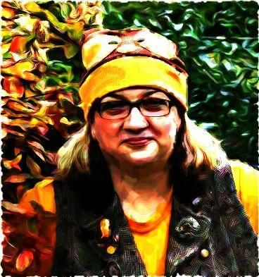 Dianne's owl hat